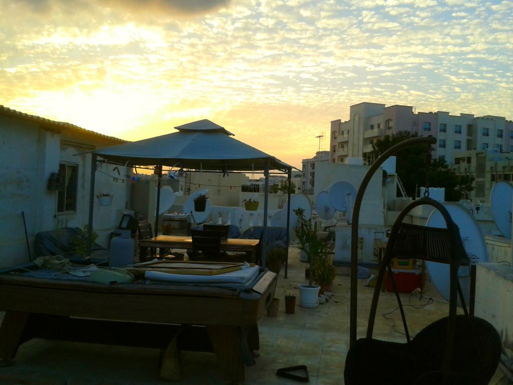 Oman house terrace