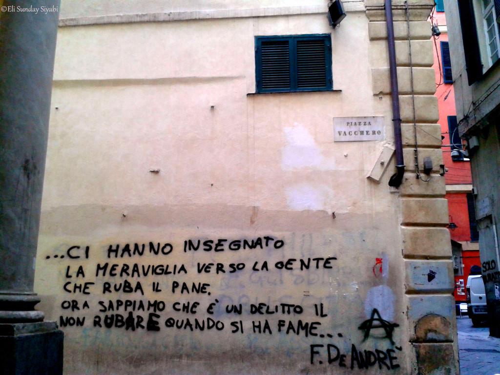 Genova Centro Storico Fabrizio de Andrè