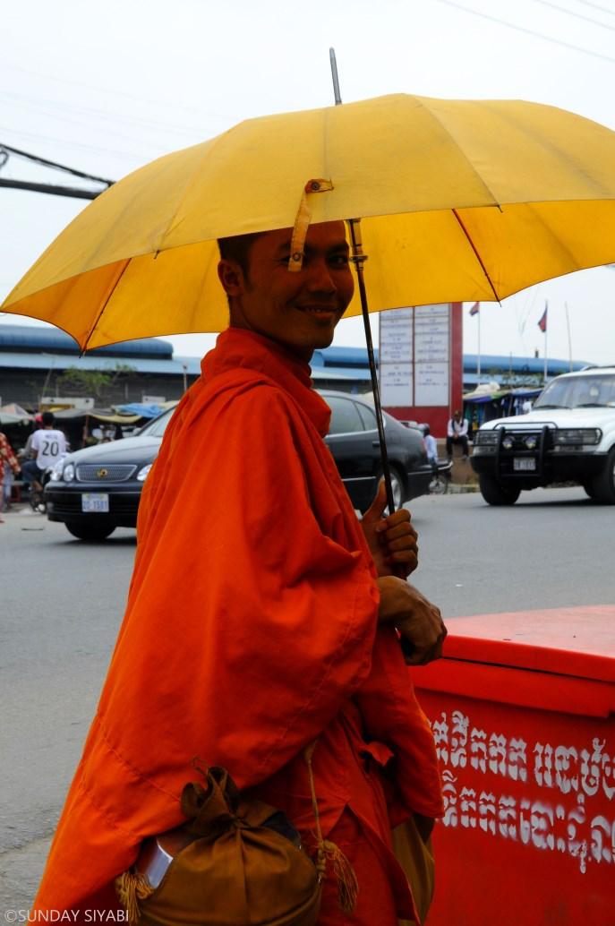 Cambogia monaci buddisti
