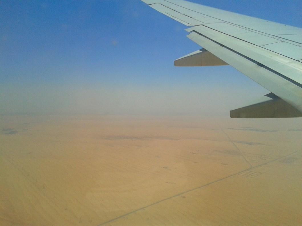 oman aereo deserto